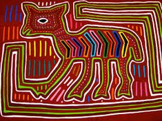 Textile art from the Guna people | Art, Colombian art