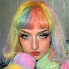 Hairstyles Haircuts, Pretty Hairstyles, Hair Inspo, Hair Inspiration, Pelo Multicolor, Hair Dye Colors, Aesthetic Hair, Dye My Hair, Grunge Hair