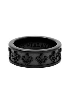 Black Ruthenium Ring