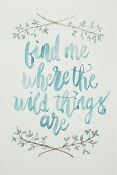 Watercolor Calligraphy Quote