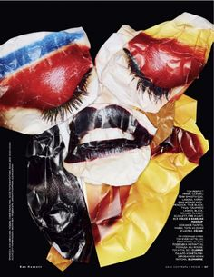 beauty collage, vogue russia