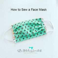 Face Mask Free Sewing Patterns are several simple and easy projet to DIY Face Fabric Masks . These face masks used basic sewing materials, and easy to make Small Sewing Projects, Sewing Hacks, Sewing Tutorials, Sewing Crafts, Sewing Tips, Craft Projects, Easy Face Masks, Diy Face Mask, Nose Mask