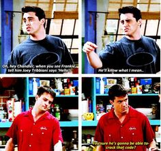 joey chandler13 Remembering Joey and Chandlers bromance on Friends (26 photos)