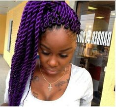 Crochet braids made a huge debut in 2016 and it looks like they are not going out of style anytime soon. Hardly a new style, the resurgence in popularity of crochet braids — also known as latch hook braids — is partly thanks to the current revi Twist Braid Hairstyles, Crochet Braids Hairstyles, My Hairstyle, Twist Braids, Cool Hairstyles, Creative Hairstyles, Marley Twists, Marley Braids, Marley Hair