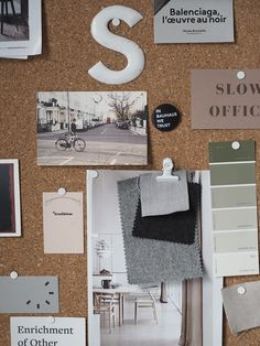 A cosy, grey home office for a freelance creative – my makeover reveal – Education & Career Gray Home Offices, Home Office Decor, Office Ideas, Workspace Inspiration, Room Inspiration, Inspiration Boards, Cork Board Ideas For Bedroom, Trendy Home, Interior Exterior
