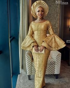 2019 Best Asoebi Styles for Events to Copy African Prom Dresses, Latest African Fashion Dresses, African Print Fashion, African Dress, African Wear, African Fabric, African Lace Styles, Ankara Gown Styles, African Style