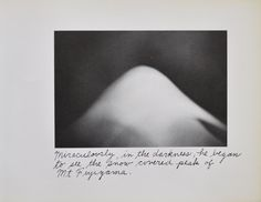 """Miraculously, in the darnkess, he began to see the snow covered peak of Mt. Fujiyama."" ©Duane Michals from his series, A View of Mt. Fuji."