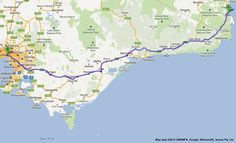 eden to melbourne road map