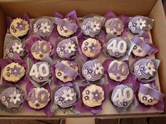 Mossy's Masterpiece - 40th birthday cupcakes by Mossy's Masterpiece cake/cupcake designs, via Flickr