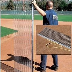 Drag Mats 181321: Rigid Steel Drag Mat 4 X 18 W/ 1 X 1 Mesh Baseball Softball Field BUY IT NOW ONLY: $129.95
