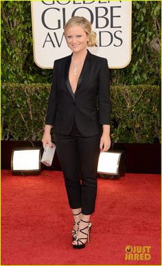Amy Poehler in 83-carat Chopard diamond lariat at 2013 Golden Globe Awards