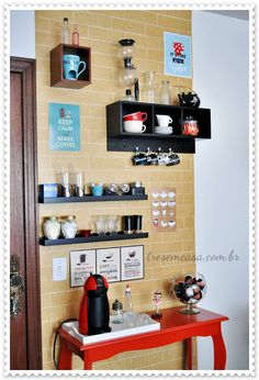 Design cafe wall spaces 34 Ideas for 2019 Coffee Cafe, Coffee Shop, Room Interior, Interior Design Living Room, Home Coffee Stations, Coffee Places, Coffee Corner, Kitchen Decor, Sweet Home