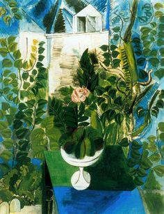 Raoul Dufy, Casa y jardín en le Havre , 1915. Óleo sobre tela, 117 x 91 cm. Musée d'Art Moderne de la Ville, París