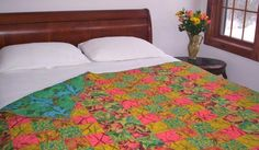 hand quilted twin quilt lap quilt floral quilt
