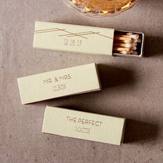 Inexpensive wedding favor ideas have met their match with custom wedding matches!