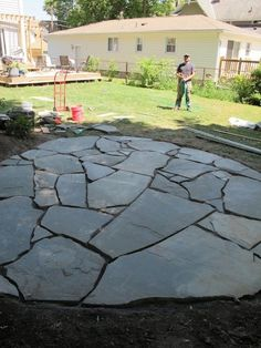 one man one day one brand new flagstone patio ideas