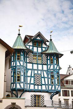 Half-timbered house in Sankt Gallen, Switzerland