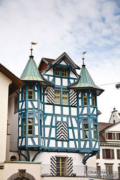 Half-timbered house in Sankt Gallen, Switzerland