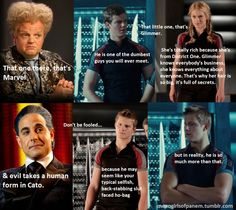 & the worst. Beware, the Careers. #cato #marvel #glimmer #caesar #claudius #hungergames #meangirls