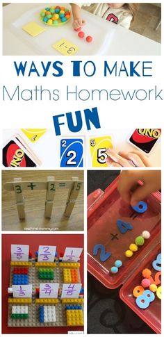 Yes, there are way to make math Homework fun!
