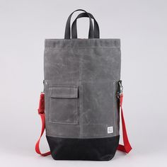 Chester Wallace waxed canvas bag.