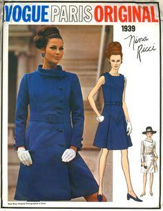 I'd like to make this coat, if I had the pattern...Vogue 1939 Nina Ricci 1968