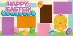 Easter scrapbook page idea
