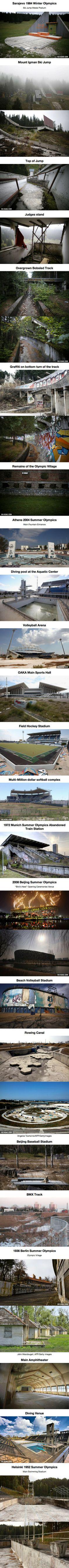 Haunting Photos Of Abandoned Olympic Stadiums