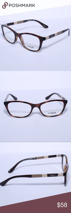 425b5fabd7eb Shop Women s Vogue Eyewear Brown size Glasses at a discounted price at  Poshmark. Description  Brand New Authentic Vogue Brown EYEGLASSES FRAME  WOMEN Comes ...