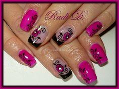 Magenta Gel polish by RadiD - Nail Art Gallery nailartgallery.nailsmag.com by Nails Magazine www.nailsmag.com #nailart