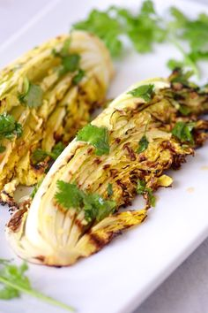 Grilled Cabbage with Asian Lime Dressing