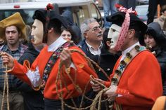 Carnevale Mamoiada, Sardinia. This is a 3 day event where dancing takes place in the village square and parades take place over the three days. The main attractions are the Mamuthones and Issohadores, Sardinia's most renowned masks.