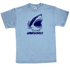 Shirtmandude T-Shirts Funny Jawsome Awesome Shark T Shirt Saying