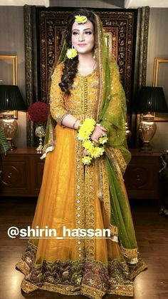 Mehndi Dress For Bride, Bridal Mehndi Dresses, Pakistani Wedding Outfits, Bridal Dress Design, Pakistani Wedding Dresses, Bridal Outfits, Bridal Lehenga, Mehndi Outfit, Shadi Dresses