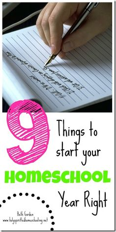 9 Things to Start Your Homeschool Year Right