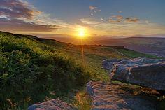 Sunset Over Ilkley Moor (England, GB)