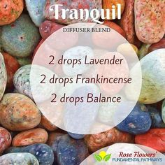 tranquil today. Hope you all enjoy it. #essentialoils #diffuserblend