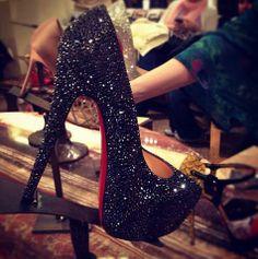 zapatos con destellos en color negro