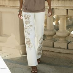 Gold Embellished Jean by Midnight Velvet Style from Monroe and Main