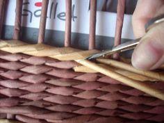 Moje pletení z papíru - Fotoalbum - NÁVOD - NA UZAVÍRKY - NÁVOD - na dvoubarevnou uzavírku