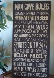 Not for Barbie - for Ken.... Man Cave Rules. This would be good for Brian's man cave!