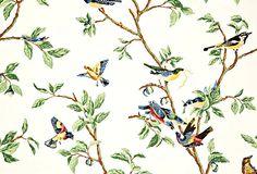Old classic Thibaut - Little Bird Wallpaper on OneKingsLane.com