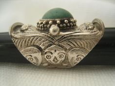 SALE Vtg Silver Ring Wildly Stylish Tribal Design by JewelryCapers, $28.00