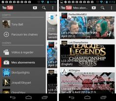 youtube android nouvelle version