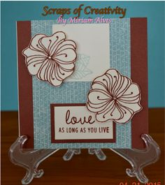 CTMH Jackson paper packet and Wavy Blooms stamp set
