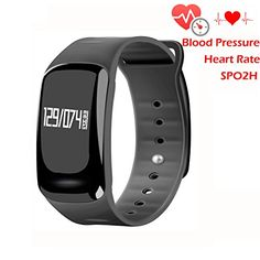 Blood Pressure Bracelet Fitness Tracker - Homestec S4 Smart Watch with SPO2H Heart rate monitor Sleeping Management Pedometer with OLED Touch Screen for Android iOS (Black) >>> Click image to review more details.