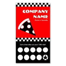 Resultado de imagen para tarjetas personales de pizzerias