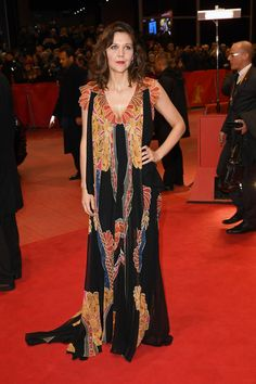 Jury member Maggie Gyllenhaal wears Prada for the closing ceremony of the 67th Berlinale International Film Festival.