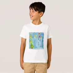 #Christmas Tree and Snowman T-Shirt - #cool #kids #shirts #child #children #toddler #toddlers #kidsfashion