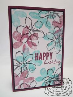Stampin' Up!  by Stampin Jacqueline: Clean & Simple, Garden in Bloom